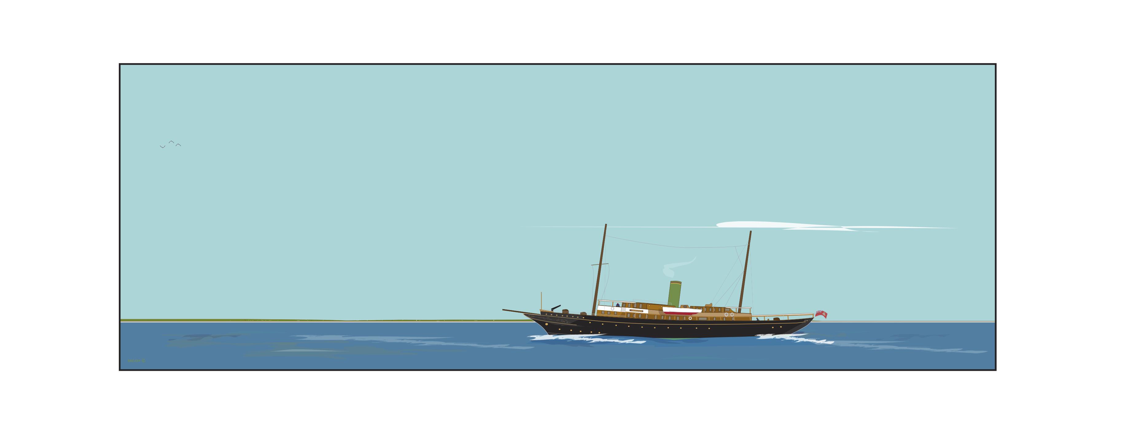 Dready Boat - Webster Line - 'Vagabondia'