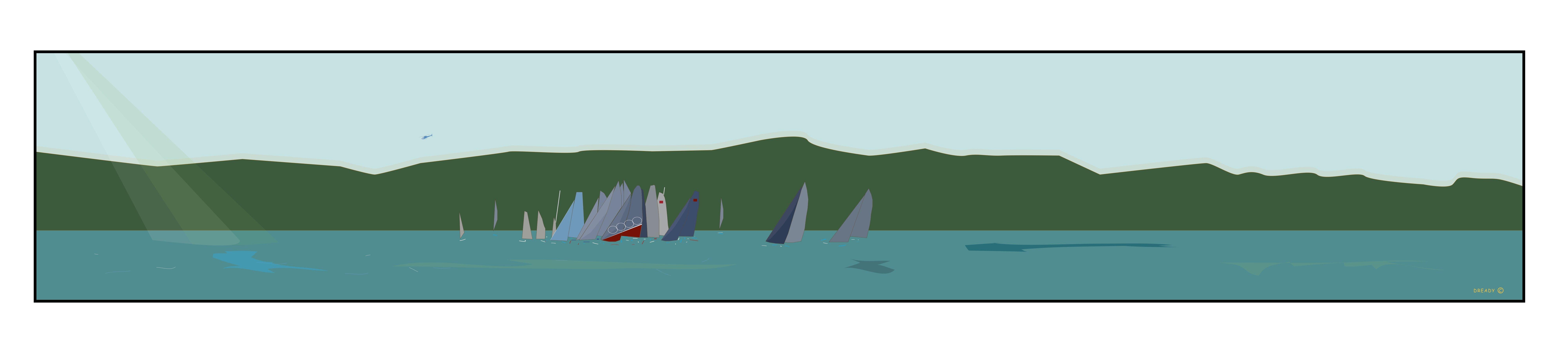 Sailing race start