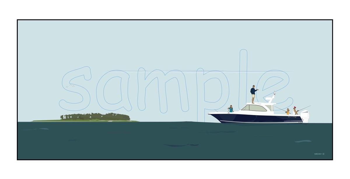 Dready, Dready Art and Everything Dready dready charles island boat trip 38x17 commission