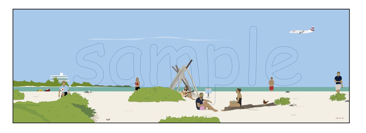 Dready, Dready Art and Everything Dready dready dave at the beach with humans 44x15 commission