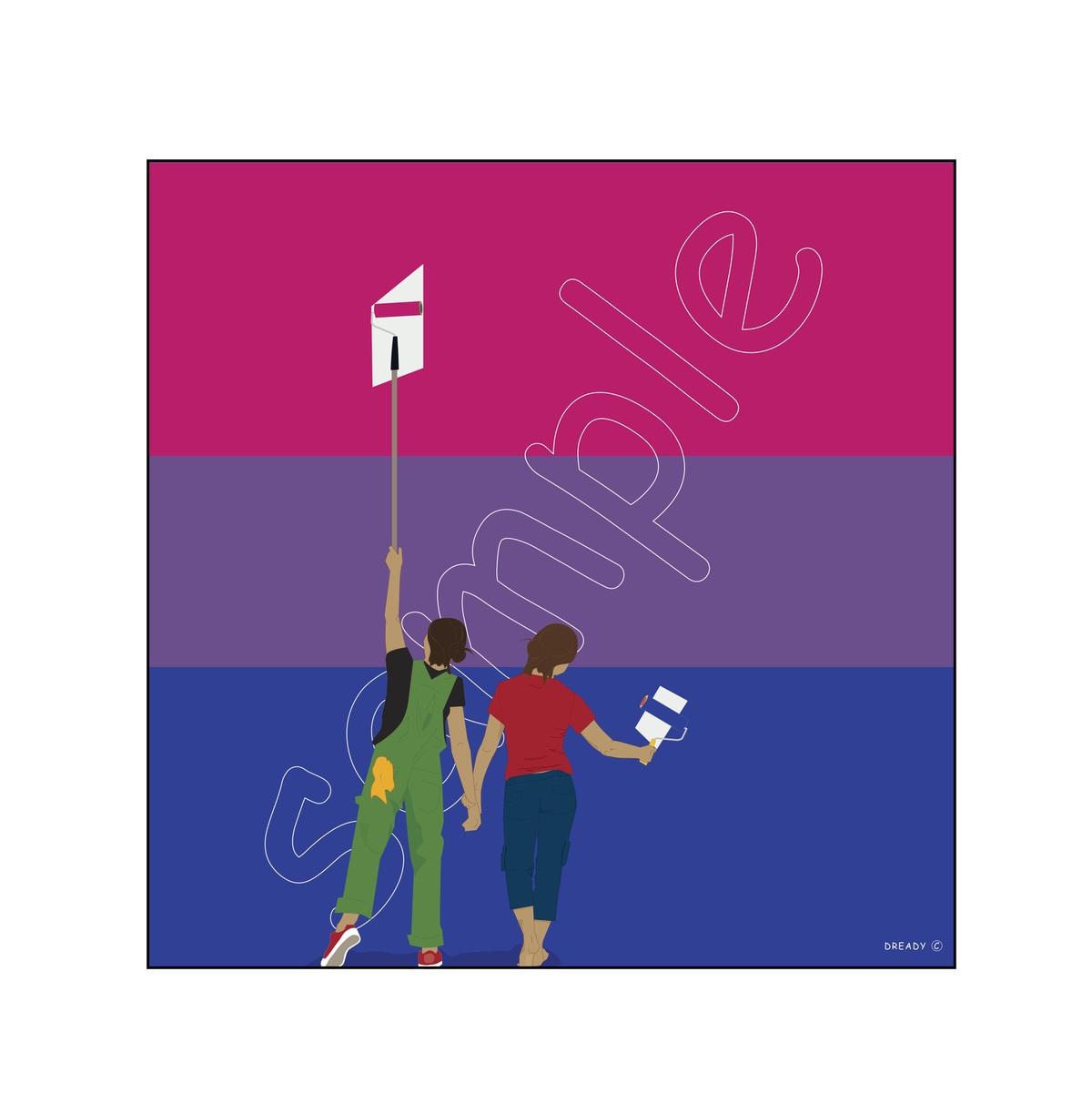 Dready, Dready Art and Everything Dready dready painting the flag 26x26 1