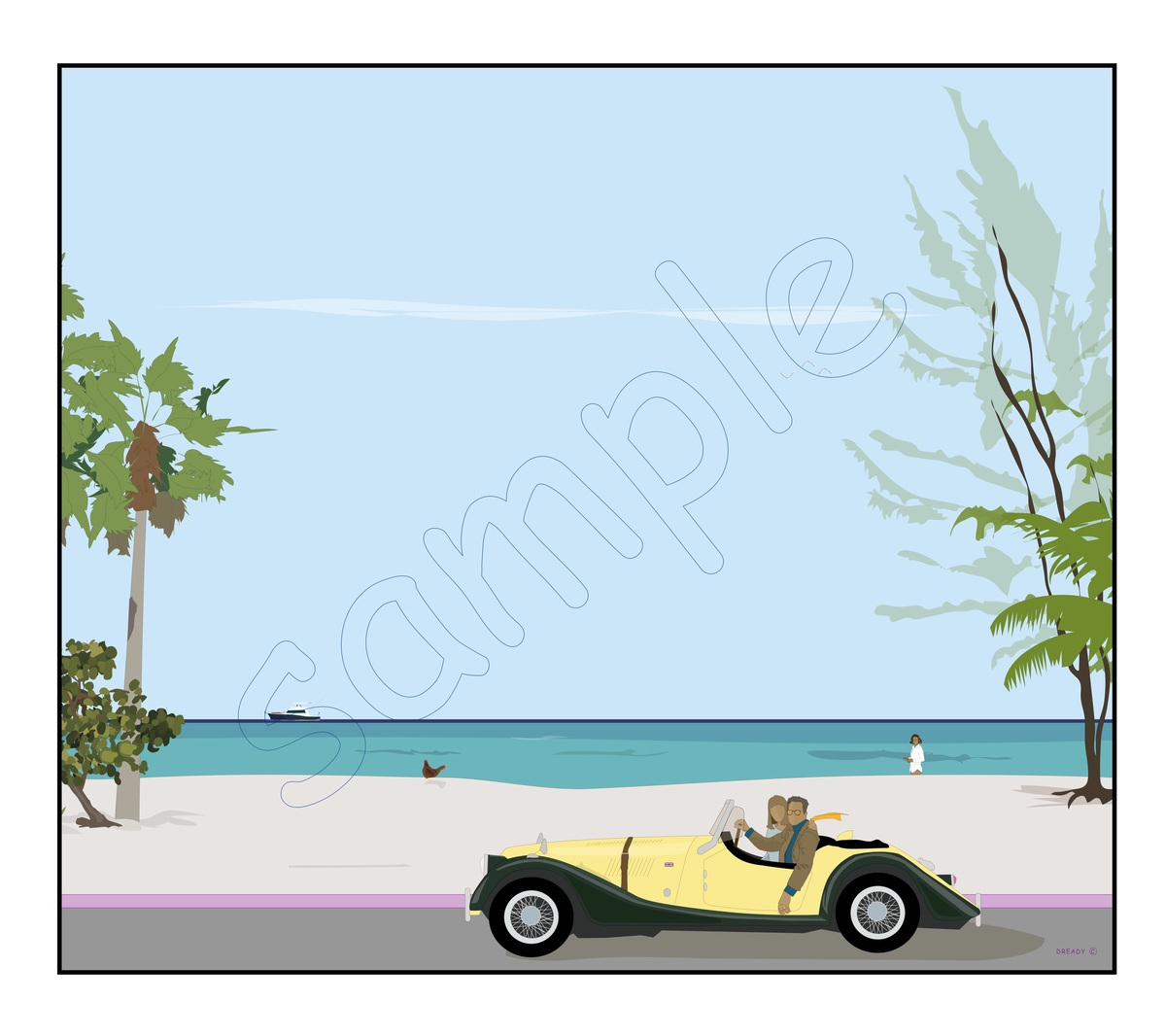 Dready, Dready Art and Everything Dready dready when the samba takes you 40x34 commission