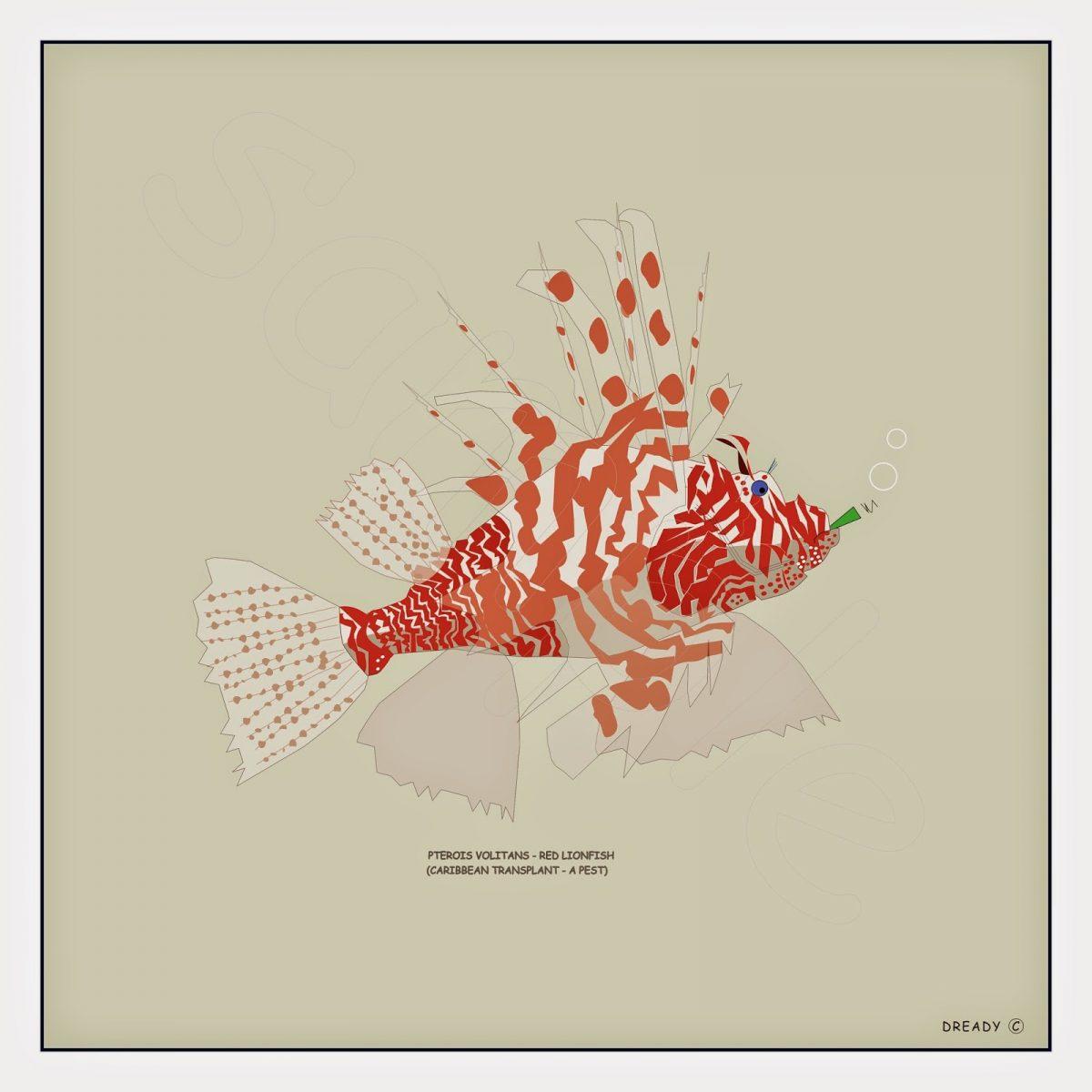 Dready, Dready Art and Everything Dready 1 lionfish2B24x24