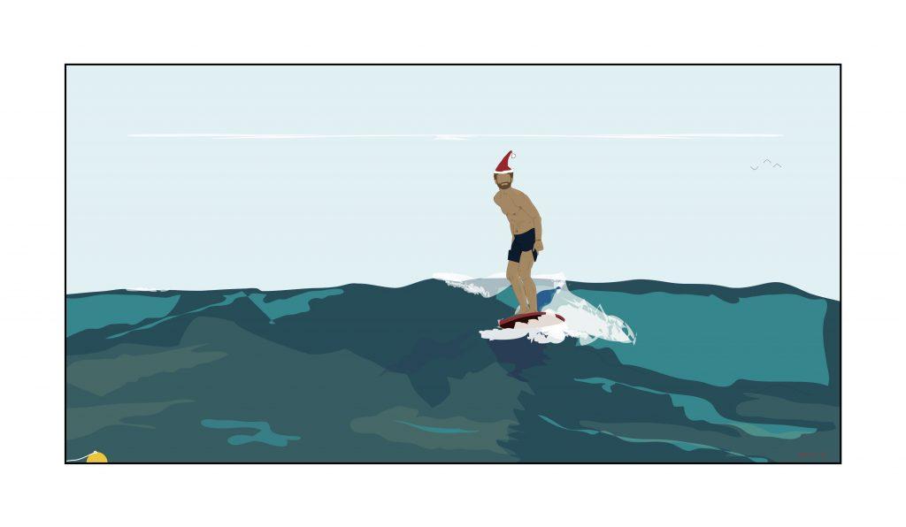 Dready, Dready Art and Everything Dready joys surfer 36x18 copy