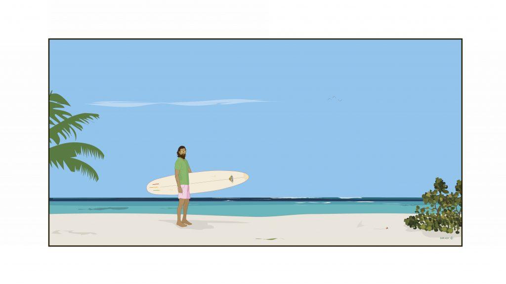 Dready, Dready Art and Everything Dready surfer man v4 36x18 version copy